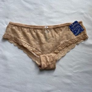 Free People Lace Hipster Briefs-Nude-XS-NWT